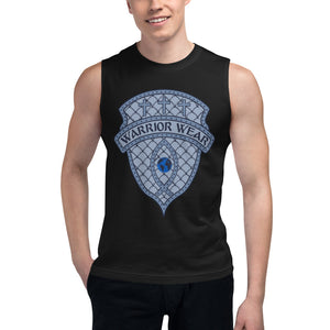 Men's Sleeveless Shirt- THERE'S FREEDOM IN SURRENDER - Black / S