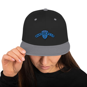 Women's Snapback Hat - Black/ Silver
