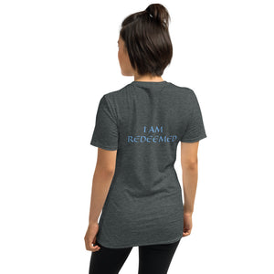 Women's T-Shirt Short-Sleeve- I AM REDEEMED - Dark Heather / S