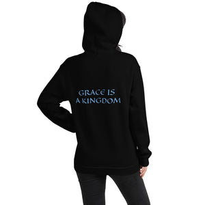 Women's Hoodie- GRACE IS A KINGDOM - Black / S