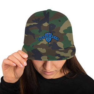Women's Snapback Hat - Green Camo