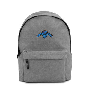 Embroidered Backpack - Grey Marl