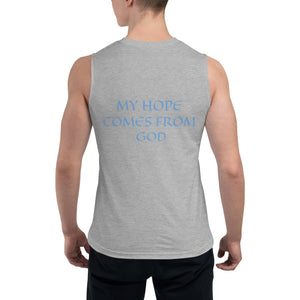 Men's Sleeveless Shirt- MY HOPE COMES FROM GOD -