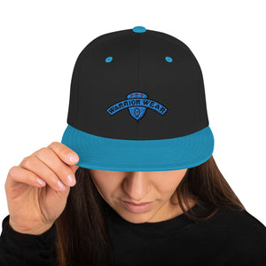 Women's Snapback Hat - Black/ Teal
