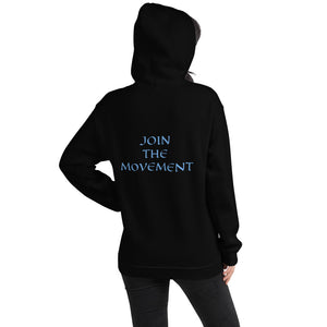 Women's Hoodie- JOIN THE MOVEMENT - Black / S