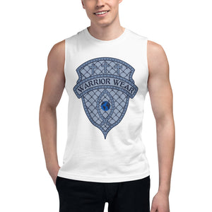 Men's Sleeveless Shirt- THERE'S FREEDOM IN SURRENDER - White / S