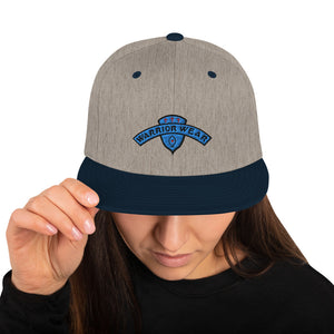 Women's Snapback Hat - Heather Grey/ Navy