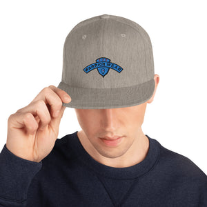 Men's Snapback Hat - Heather Grey