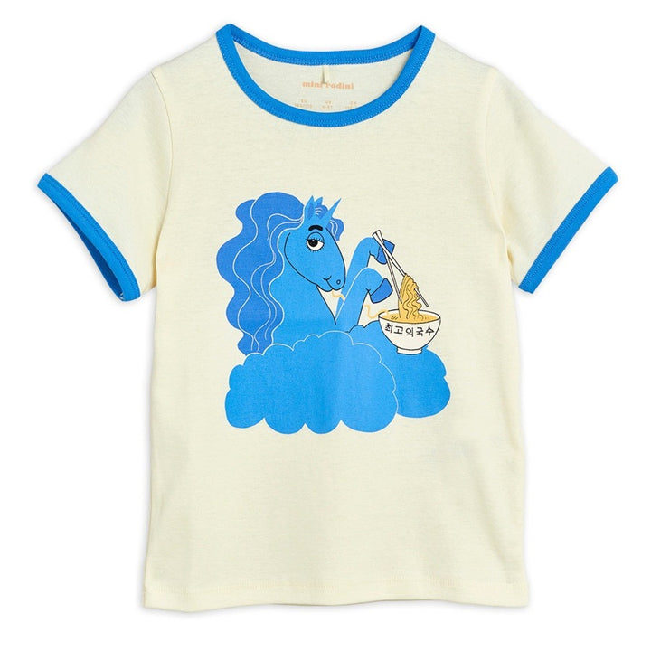 Mini Rodini Unicorn Short Sleeve Tee in Blue