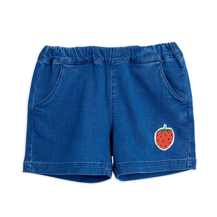 Mini Rodini Denim Strawberry Shorts