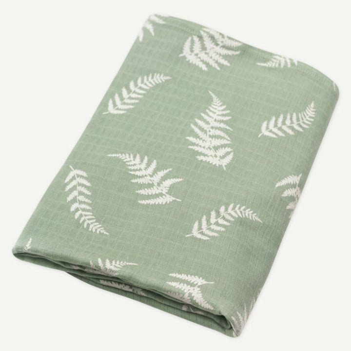Fern Print Muslin Infant Swaddle