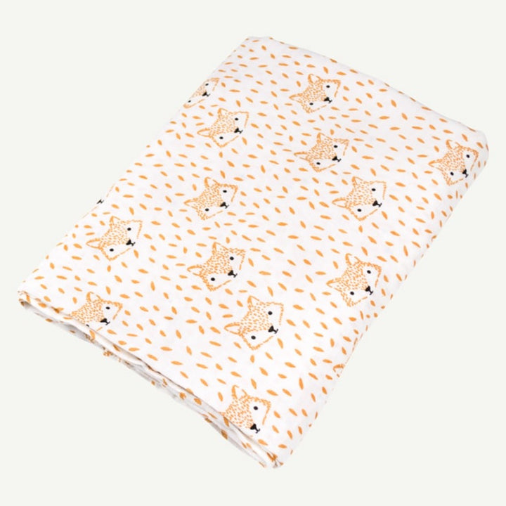 Organic Baby Swaddle with Fox Print