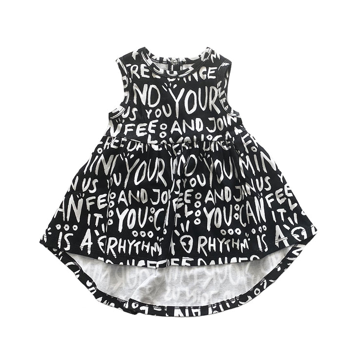 Organic Cotton Sleeveless Dress for the Little Dancer