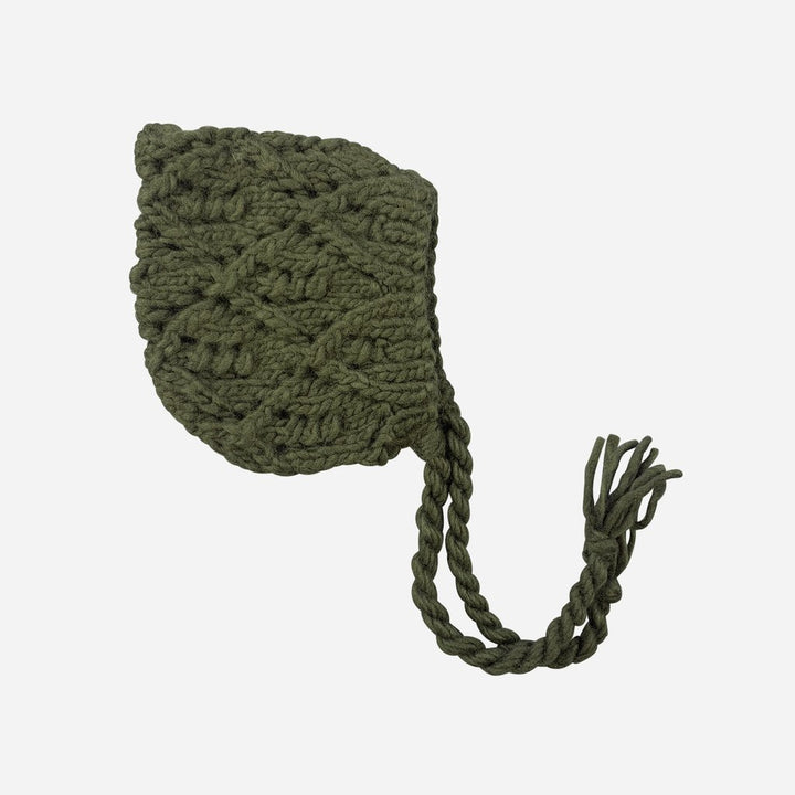 Blueberry Hill Knit Hat in Dark Green