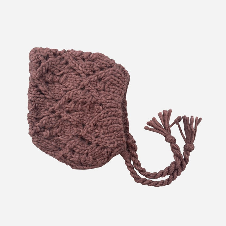 Blueberry Hill Knit Hat in Mauve