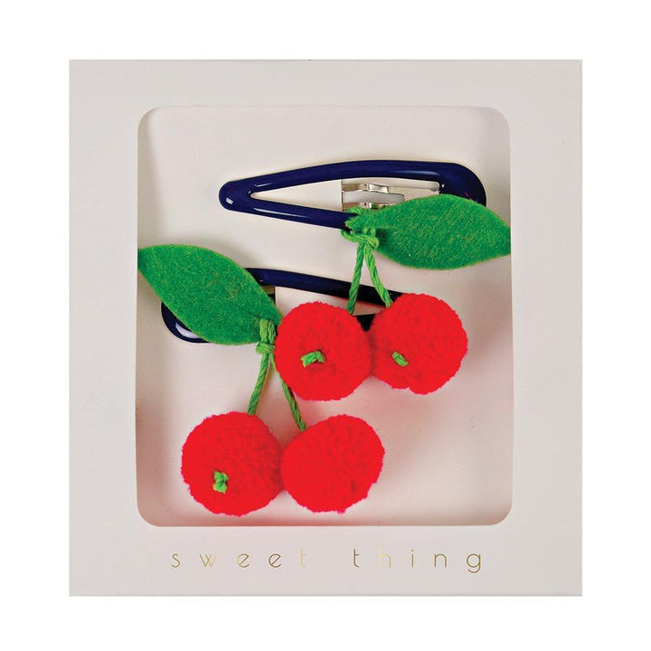 Meri Meri Cherries Hair Clips (red)