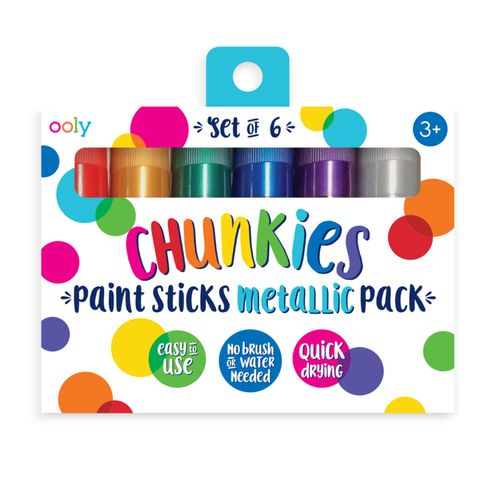 Ooly Chunkies Paint Sticks Metallic - Set of 6