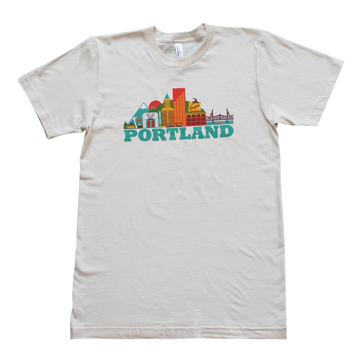 City Living Portland Cityscape Short Sleeve Tee Shirt