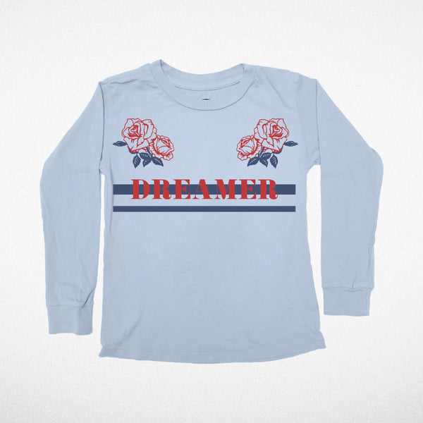 Tiny Whales Dreamer Long Sleeve Tee (blue)