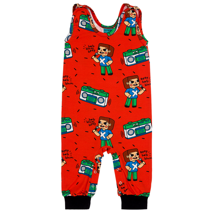 Brick Party Dungaree by Raspberry Republic