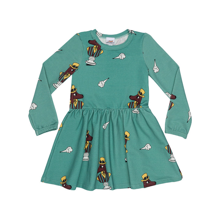 Jelly Alligator Fogdog Cotton Dress