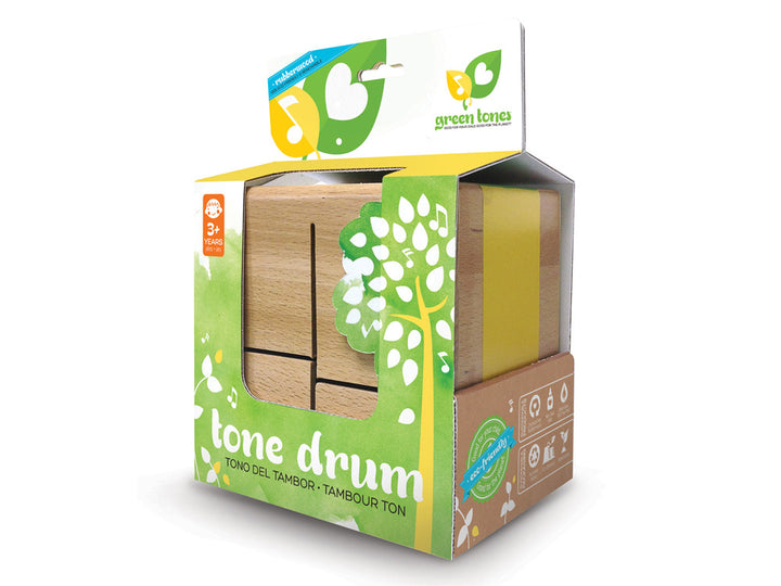 Green Tones Square Tone Drum