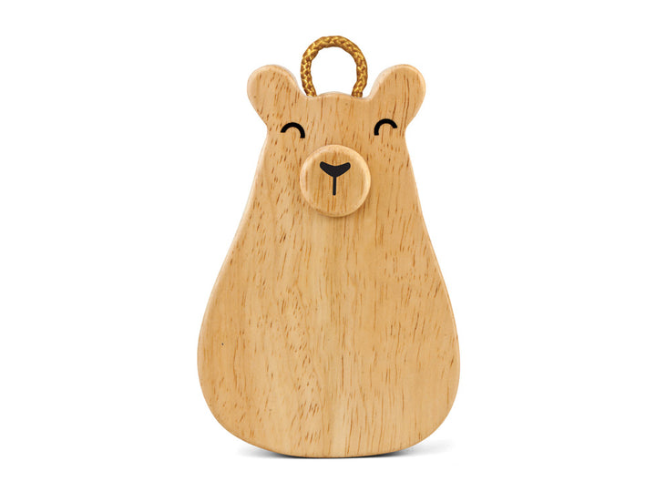 Green Tones Baby Bear Wooden Shaker