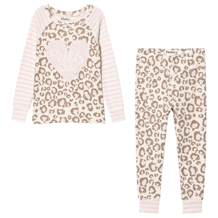 Hatley Pink Leopard Youth Pajama Set