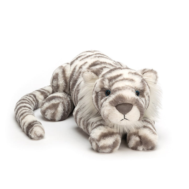 Jellycat Sacha Snow Tiger Little (white/gray)