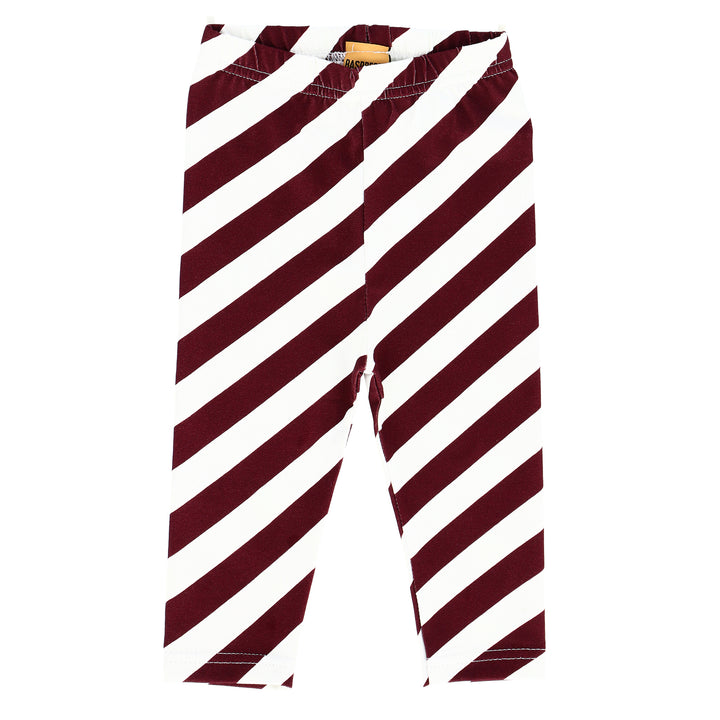 Candy Cane Striped Leggings