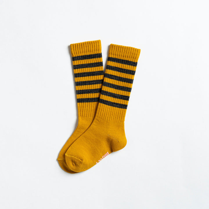 Lightweight Wool Socks for Kids (mustard)