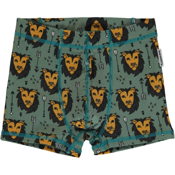 Maxomorra Lion Jungle Boxer Shorts (green)