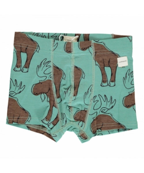 Maxomorra Mighty Moose Boxer Shorts (blue)