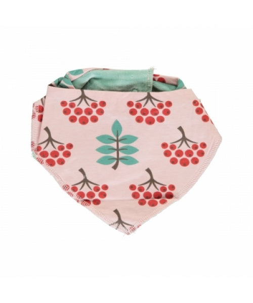 Maxomorra Ruby Rowanberry Velour Dribble Bib (pink)
