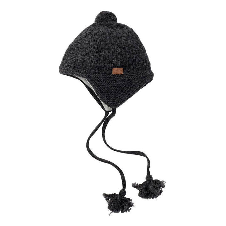Melton Lamb Wool Baby Sailor Hat (Dark Grey)