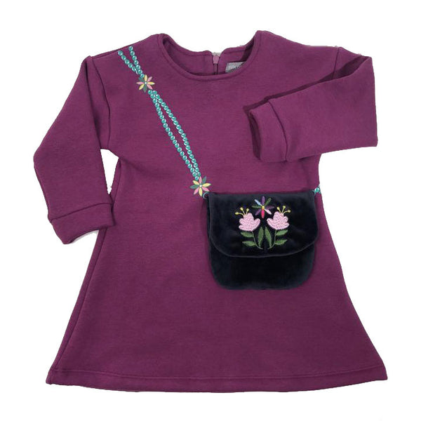 Milk on the Rocks Purse Dress (plum)