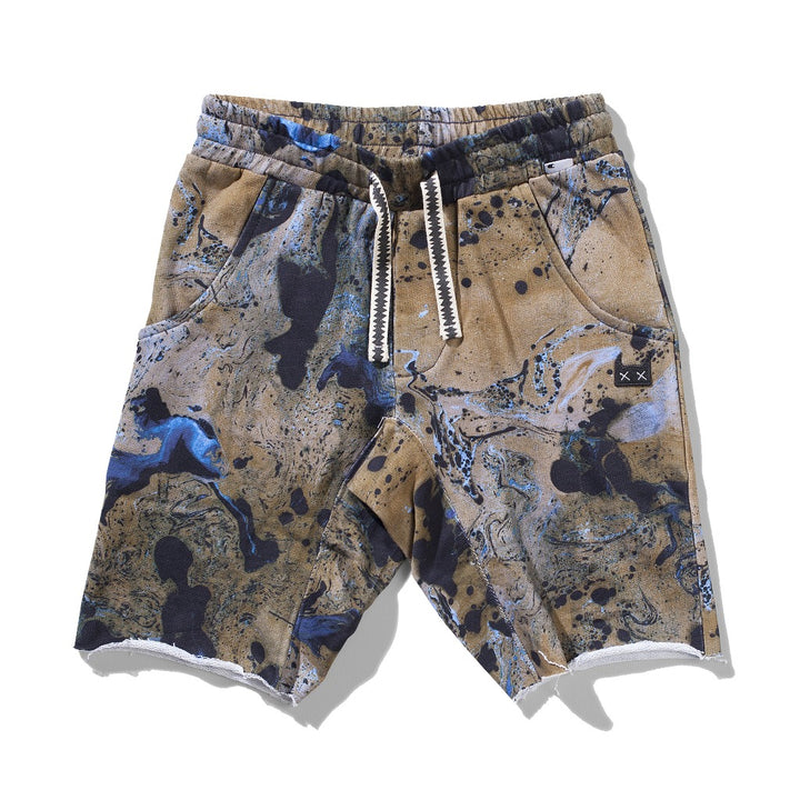 Munster Kids Splatter Raw Hem Shorts