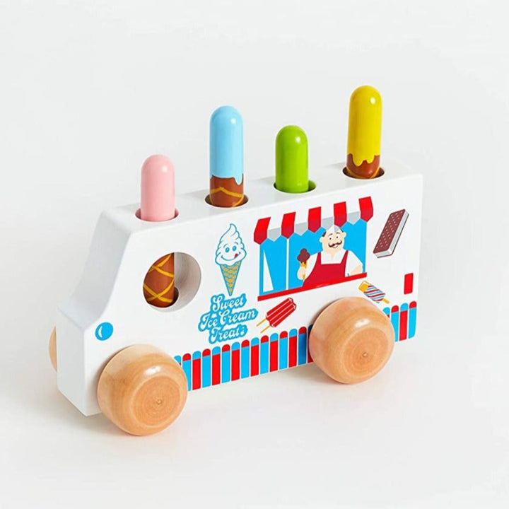 Wooden Pop Up Ice Cream Truck for Toddler