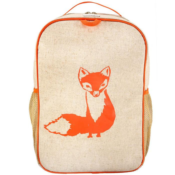 SoYoung Orange Fox Grade School Washable Backpack
