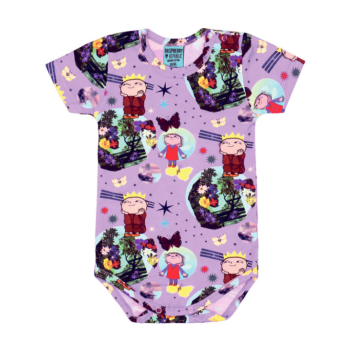 Raspberry Republic Organic Mother Earth Onesie (purple)