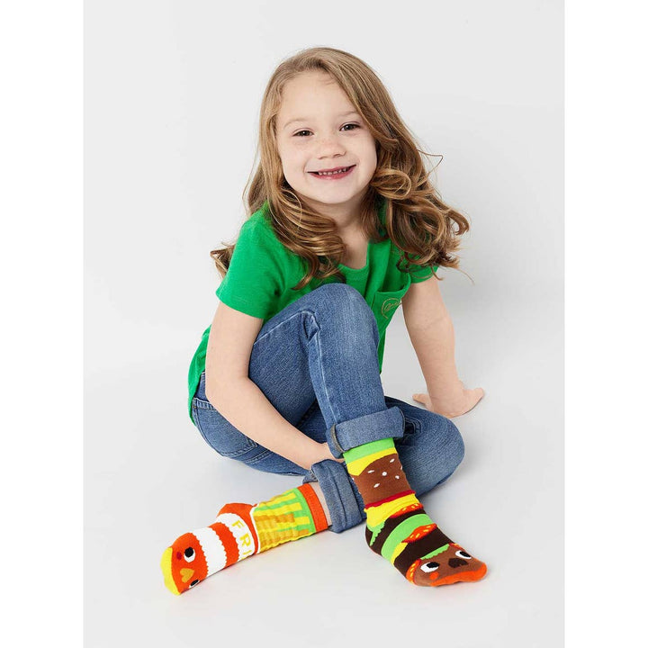 Burger & Fries Kids Mismatched Socks - 1 to 8 years