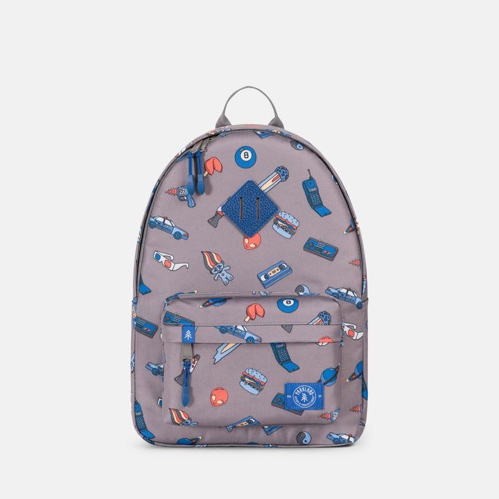 Eco friendly backpack made from recycled bottles - retro print