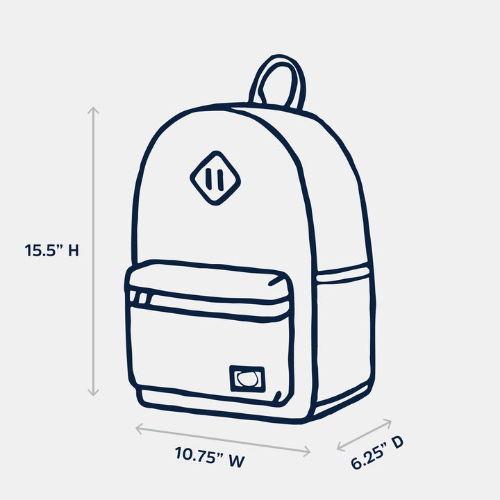 Parkland backpack dimensions