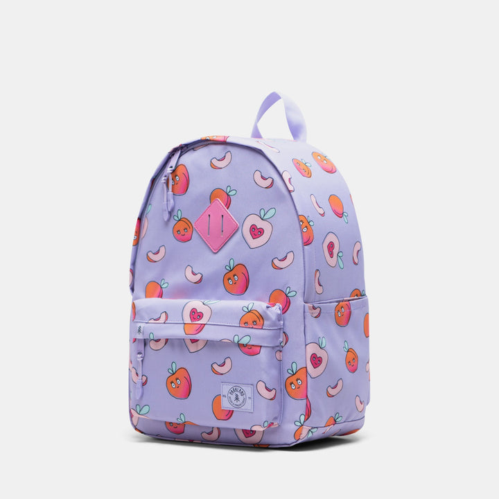 Parkland Lavender with Peaches eco-gear backpack - side view