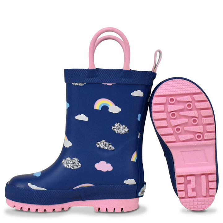 Rainbow Kids Rain Boots (navy)