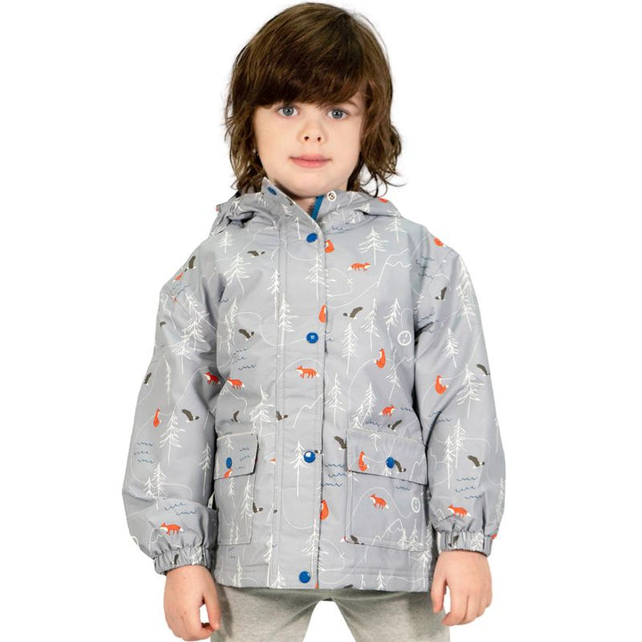 Reflective Youth Rain Jacket- Rocky Mountain Grey