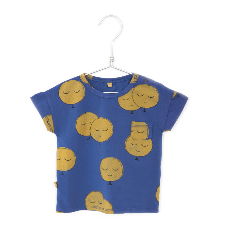 LotieKids Moons Infant Tee (indigo)