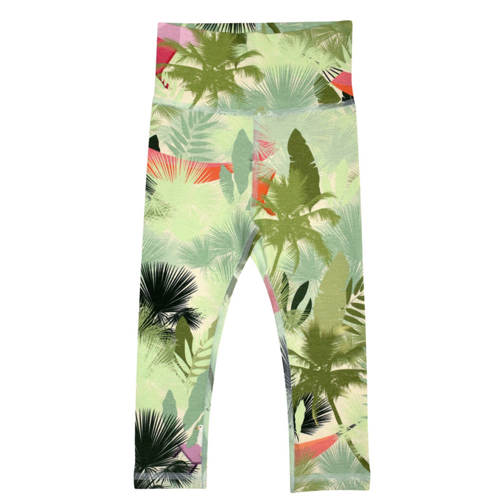 Palm Print Wide Waist Infant Leggings
