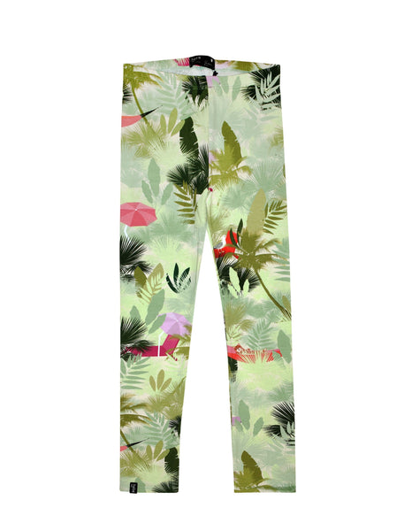 Hebe Palm Print Organic Summer Leggings