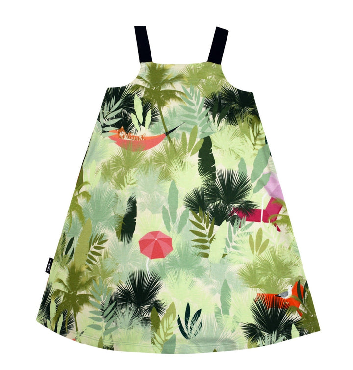 Hebe Palm Print Summer Girls Dress